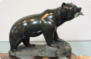 Fishing Bear Sculpture Medium: Brazilian Soapstone