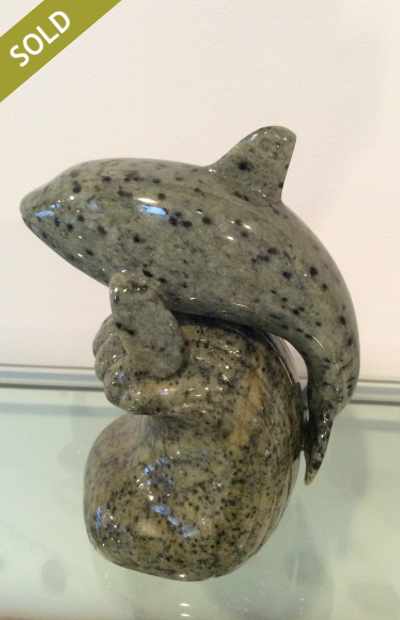 Orca Whale (small) - One Piece Medium: Brazilian Soapstone