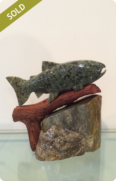Rainbow Trout (small) - Medium: Brazilian Soapstone